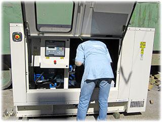 Обслуживание дизельного генератора (ДГУ)