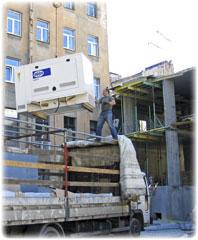 Дизельные генераторы на строительном объекте