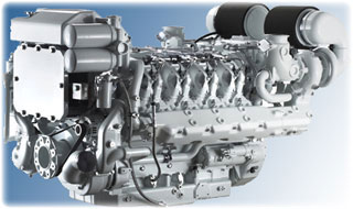 Дизельный двигатель электростанции