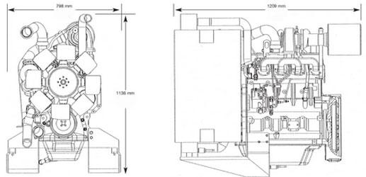 Двигатель John Deere 4045HF 158