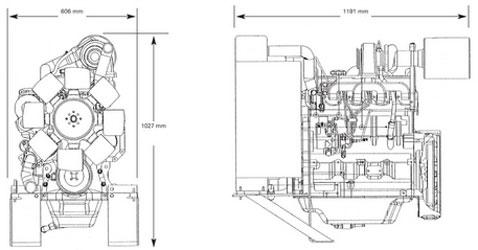 Двигатель John Deere 4045TF 158