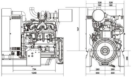 Двигатель John Deere 4045TF 258