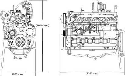 Двигатель John Deere 6068HF 120