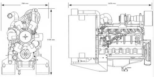 Двигатель John Deere 6068HF 158