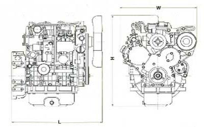 Двигатель Mitsubishi S4L261SD