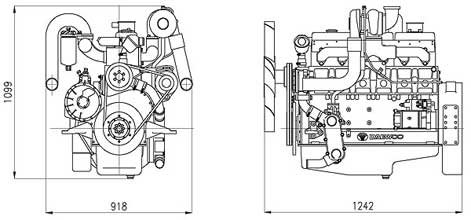 Двигатель Doosan P086TI