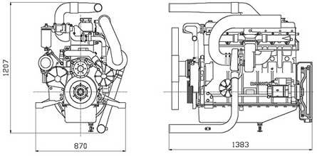 Двигатель Doosan P126TI-II