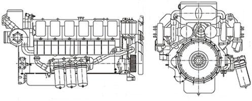 Двигатель Mitsubishi S16R-PTA