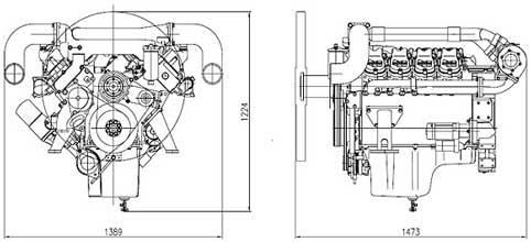 Двигатель Doosan P158LE-S