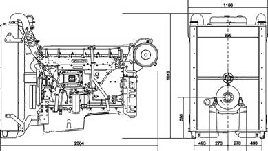 Двигатель Volvo TAD1640 GE