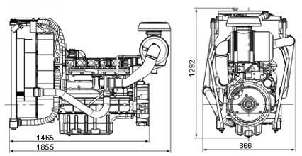 Двигатель Volvo TAD731 GE