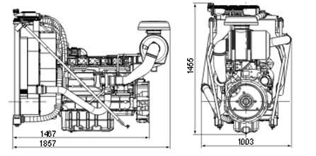 Двигатель Volvo TAD733 GE