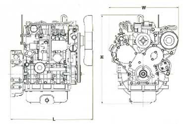 Двигатель Yanmar 3TNV 88