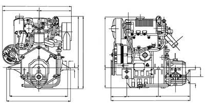 Характеристики двигателя Yanmar L100  Описание  Применение